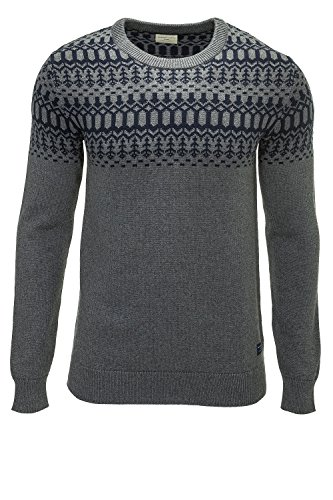 Selected Pullover Uomo Maglione Sweater Medium Grey Melange L