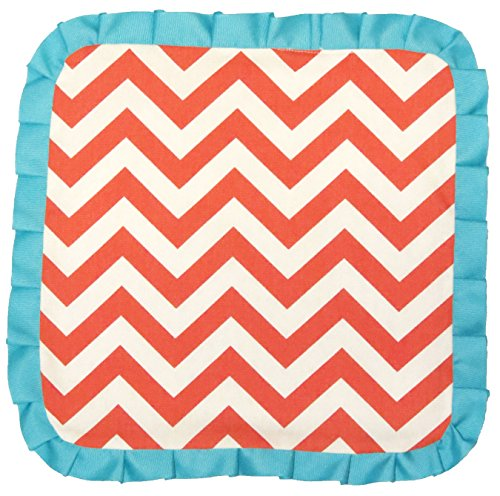 Caught Ya Lookin' Baby Thumb Blanket, Coral and White Chevron - 1