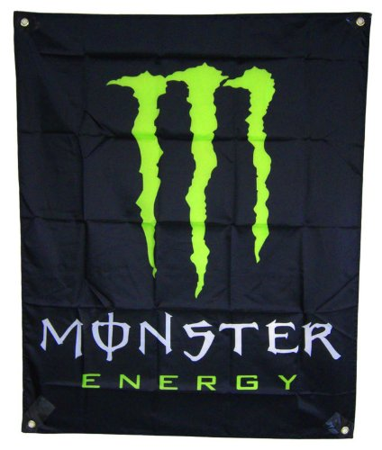 NEW BIG Monster Energy Drink Promo Sign Banner Poster Flag 100 x80 cm or 40''x31''inches