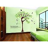 UberLyfe Elegant Wisdom Woman Tree Wall Sticker For Living Room