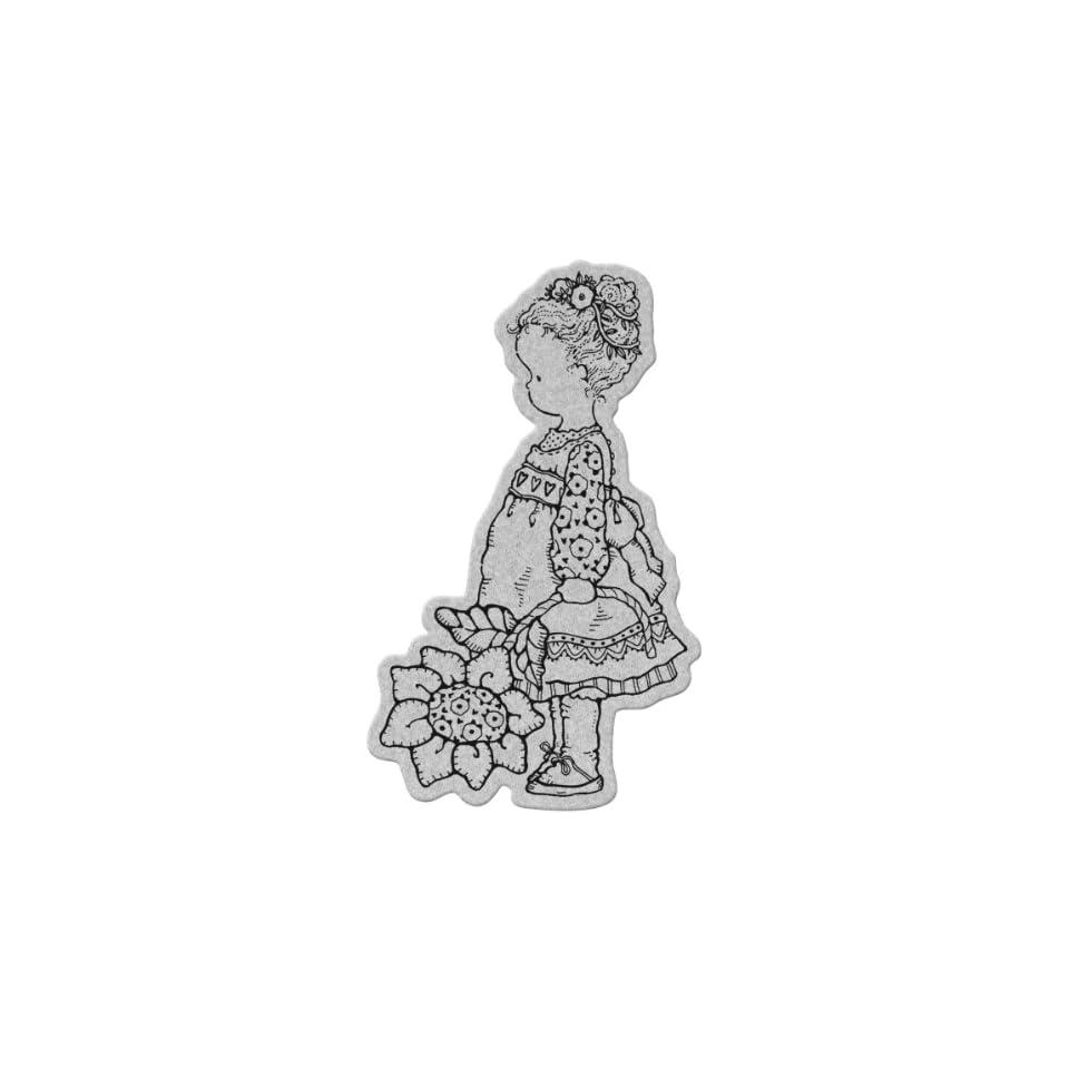 Penny Black Cling Rubber Stamp 4X5.25 Flower Girl