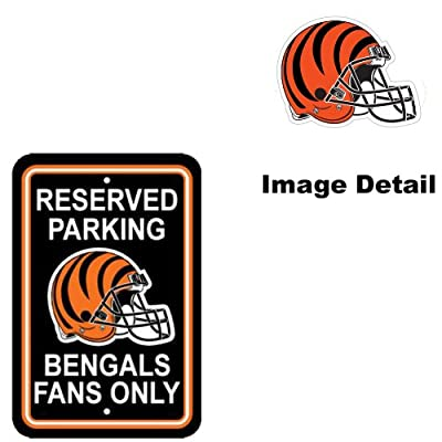 Cincinnati Bengals NFL Team Logo Home Office Garage Wall Parking Sign - Classic RESERVED PARKING BENGALS FANS ONLY
