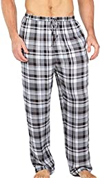 Men\'s Woven Plaid Pajama Pants - Hypnos (Black/Gray, Large) Great Gift Ideas for Dad MB0201-1KG-L
