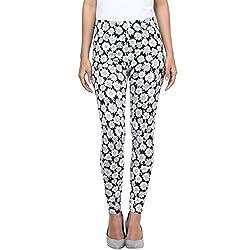 Honey by Pantaloons Women's Slim Fit Leggings (205000005553783_Black_L)