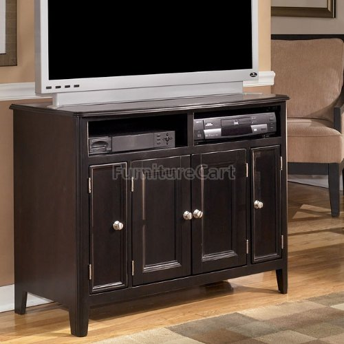 Cheap Contemporary Almost Black Carlyle TV Stand (W371-18)