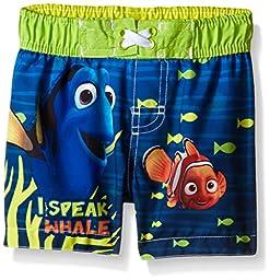 Disney Baby-Boys Dory Swim Trunk, Blue, 18 Months