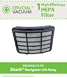 Shark HEPA Filter Designed To Fit Shark Navigator Lift-Away NV350, NV351, NV352, NV355, NV356, NV356E, NV357; Replaces Shark Part# XHF350; Designed & Engineered By Crucial Vacuum