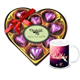 Classic Deluxe Wrapped Chocolate Box With Birthday Mug - Chocholik Luxury Chocolates
