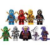 9 set Minifigure Ninja Ninjago Lloyd Skylor Zane Cole Jay Kapau Building Toy
