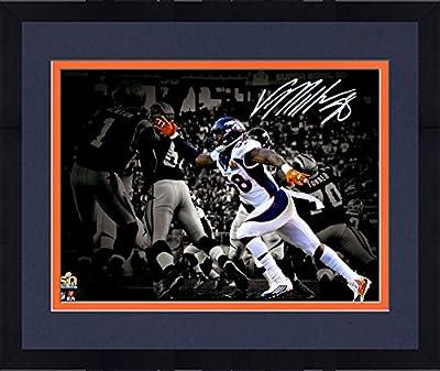 """Framed Von Miller Denver Broncos Autographed 11"""" x 14"""" Super Bowl 50 Champions Spotlight Photograph - Fanatics Authentic Certified"""