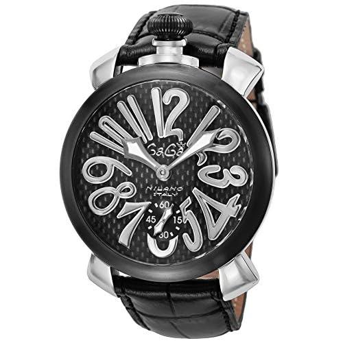 [ガガミラノ]GAGA MILANO 腕時計 ブラック文字盤 ステンレス(BKPVD)ケース 裏蓋スケルトン スイス製 5013.01S-BLK レディース 【並行輸入品】