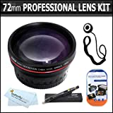 72mm Professional Lens Kit Includes HD .45x Wide Angle Lens + Lens Pen Kit + Screen Protectors + Lens Cap Keeper + Microfiber cloth + More For Canon XL-H1s, XL-H1a, XH-G1s, XH-A1s, XL2, XL1 High Definition Professional Camcorder ~ ButterflyPhoto