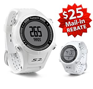 Garmin Approach S2 Golf GPS Watch (NEW VERSION w/ 30,000+ Courses) | 60-Day Buy & Try Return Policy! (White)