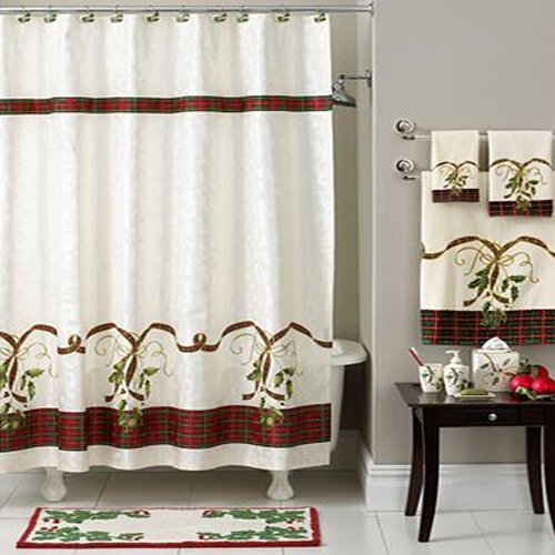 Lenox Holiday Nouveau Christmas Shower Curtain