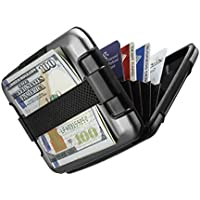 Sharkk RFID Protected Aluminum Wallet with Cash Band