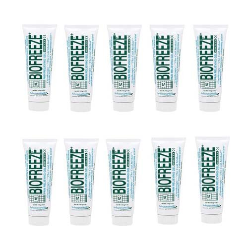 Biofreeze Gel 10 x Bulk Pack Of Tubes 110 g / 4 oz