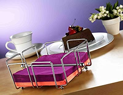 Metal Napkin Holder / Caddy - Modern Holder for Tissue - Stainless Steel
