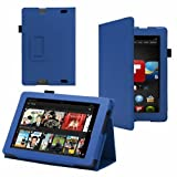 Smart Pu Leather Case Cover With Screen Protector & Stylus For Amazon All-New Kindle Fire HD 7