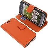 Tasche für Doro 8031 Book Style orange Kreditkarte Schutz