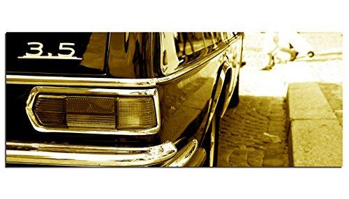Dsign24-EG312500302-HD-Echt-Glas-Bild-Oldtimer-Auto-Wandbild-Druck-auf-Glas-XXL-125-x-50-cm-sepia