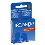 Trojan Enz with Sperm Lubricated Latex Condom (Pack of 3)
