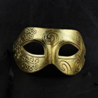 Shot-in Retro Roman gladiator Halloween party masks man woman children Masquerade mask Gold by Coofit