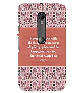 PrintDhaba Quote D-5724 Back Case Cover for MOTOROLA MOTO G3 (Multi-Coloured)