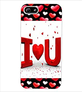 ColourCraft Love Quote Design Back Case Cover for APPLE IPHONE 5S