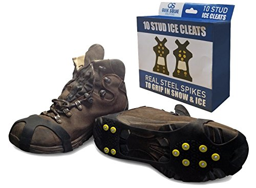 Quik Solve Ice Snow Traction Shoe Boot Cleats - No Slip Gripper Spikes XL (Shoe Ice Grippers compare prices)