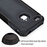 iPhone 4 Case, iPhone 4S Case, CHTech Shockproof Durable Hybrid Dual Layer Armor Defender Protective Case Cover for Apple iPhone 4S/4 (Black)