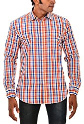 Indipulse Men's Casual Shirt (IF11600616BFS, Multi-Coloured, L)