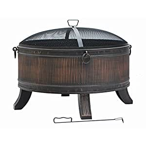 Fire pit by hampton bay emberjack 36 in for Amazon prime fire pit