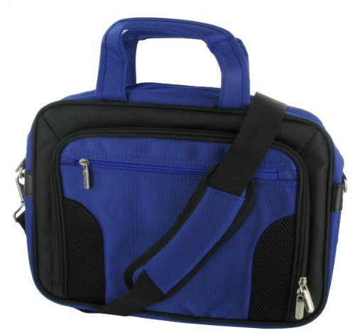 rooCASE Laptop Carrying Bag for Sony VAIO VPC-Y216FX/B 13.3-Inch Laptop - Dull Blue / Black Deluxe Bag