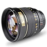 """Walimex Pro 85mm 1:1,4 DSLR-Objektiv (Filtergewinde 72mm, IF, AS und ED-Linsen) f�r Pentax K Objektivbajonett schwarzvon """"Walimex"""""""