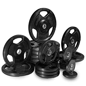 XMark Commercial Rubber Coated Olympic Plate Weight Set (255 lb. - 455 lb. Sets)