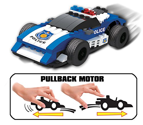 UniBlock Pullback Building Block Car - 84 pc