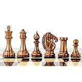 House of Chess - Golden Rosewood/Boxwood Chess Pieces Rio Staunton 4.0