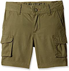 Nautica Kids Boys' Shorts (N265102Q396_Moss_3 - 4 years)