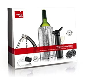 Vacu Vin Wine Essentials Gift Set - Black from Vacu Vin