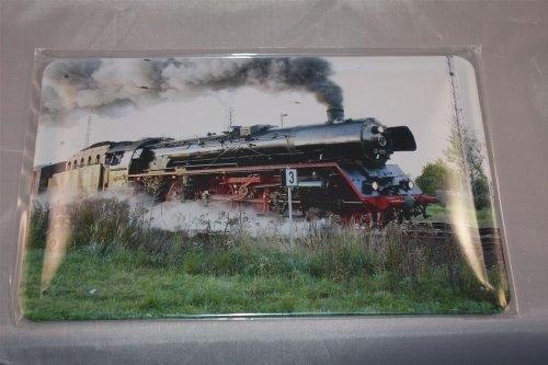 Dampflokomotive-3-Blechschild-20x30-cm-Schild-Schilder-Lok-Lokomotive