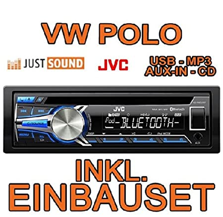 VW polo 6N 6N2 &jVC-kD-r852BT cD/mP3/uSB avec kit de montage