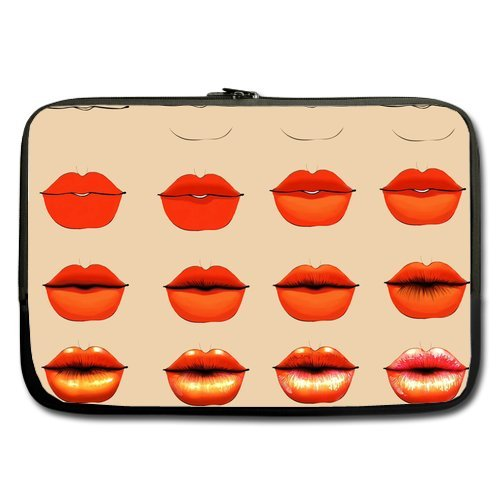 Anhome Print Sexy Lips Red Gradual Change Sleeve For Macbook Pro / Sleeve For Laptop / Notebook Computer / Macbook / Macbook Pro / Macbook Air 17'' front-65759