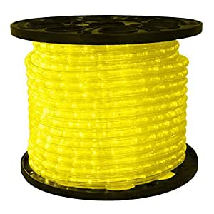3 8 In LED Yellow Rope Light 2 Wire 12 DC Volt 150 Ft Spool C