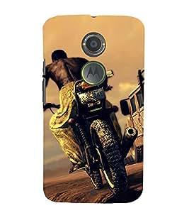 Bike Racing Cute Fashion 3D Hard Polycarbonate Designer Back Case Cover for Motorola Moto X2 :: Motorola Moto X 2nd Gen :: Motorola Moto X 2014 :: Motorola Moto X+1