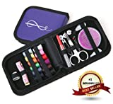 Best Sewing Kit for Home, Travel and Emergency Use - Mini Sewing Kit and Sewing Supplies for Kids, Girls & Boys, Beginners and Adults - Perfect Sewing Kit for Prepper Supplies, Premium Quality Case and Sewing Accessories