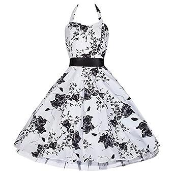 pretty kitty fashion 50s wei schwarz blume neckholder. Black Bedroom Furniture Sets. Home Design Ideas