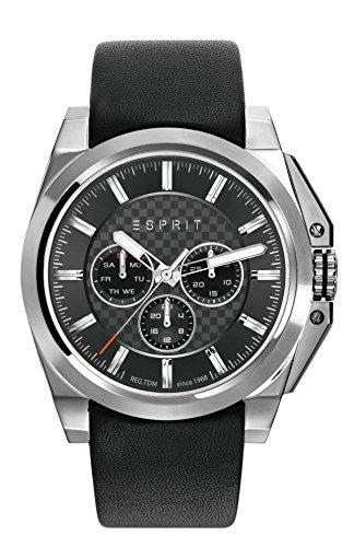 Esprit-Reloj de pulsera para hombre tp10871Black analógico de cuarzo piel es108711001