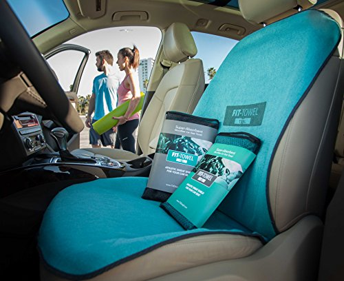 fit towel car seat towel cover athletic sweat shield with cool quick dry skidless technology. Black Bedroom Furniture Sets. Home Design Ideas