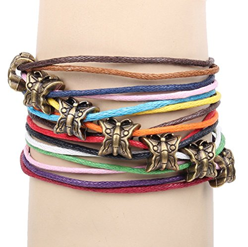 winters-secret-bronze-butterfly-pattern-hand-braided-diy-color-wax-rope-ancient-wrap-bracelet
