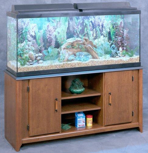 29 Gallon Aquarium Stand in Cherry Finish with Black